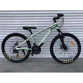 """Гірський Велосипед TopRider 24 дюймів""""680"""" біло-зелений"""