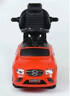 Детская машинка-толокар с ручкой JOY 806 S-16805 Красный (багажник, съемный защитный бампер, музыкальный руль)