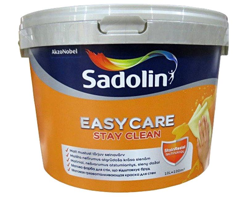 Фарба брудовідштовхуюча SADOLIN EASYCARE інтер'єрна білий (база ВW) 10л