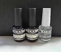 Набор Base Oxxi 15 ml + Топ Oxxi No Wipe без липкого слоя 15 ml + Ultrabond Oxxi 15 ml