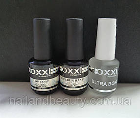 Набор Base Oxxi 15 ml + Топ Oxxi No Wipe без липкого слоя 15 ml + Ultrabond Oxxi 15 ml