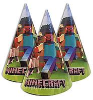 Колпачки, Майнкрафт / Minecraft праздничные карнавальные 16 см (1шт)-