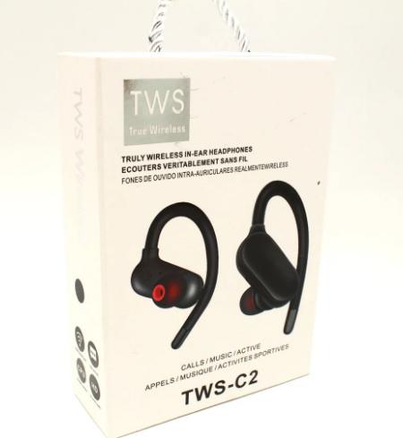 Беспроводные вакуумные наушники TWS-C2 блютуз гарнитура черные