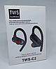 Беспроводные вакуумные наушники TWS-C2 блютуз гарнитура черные, фото 5