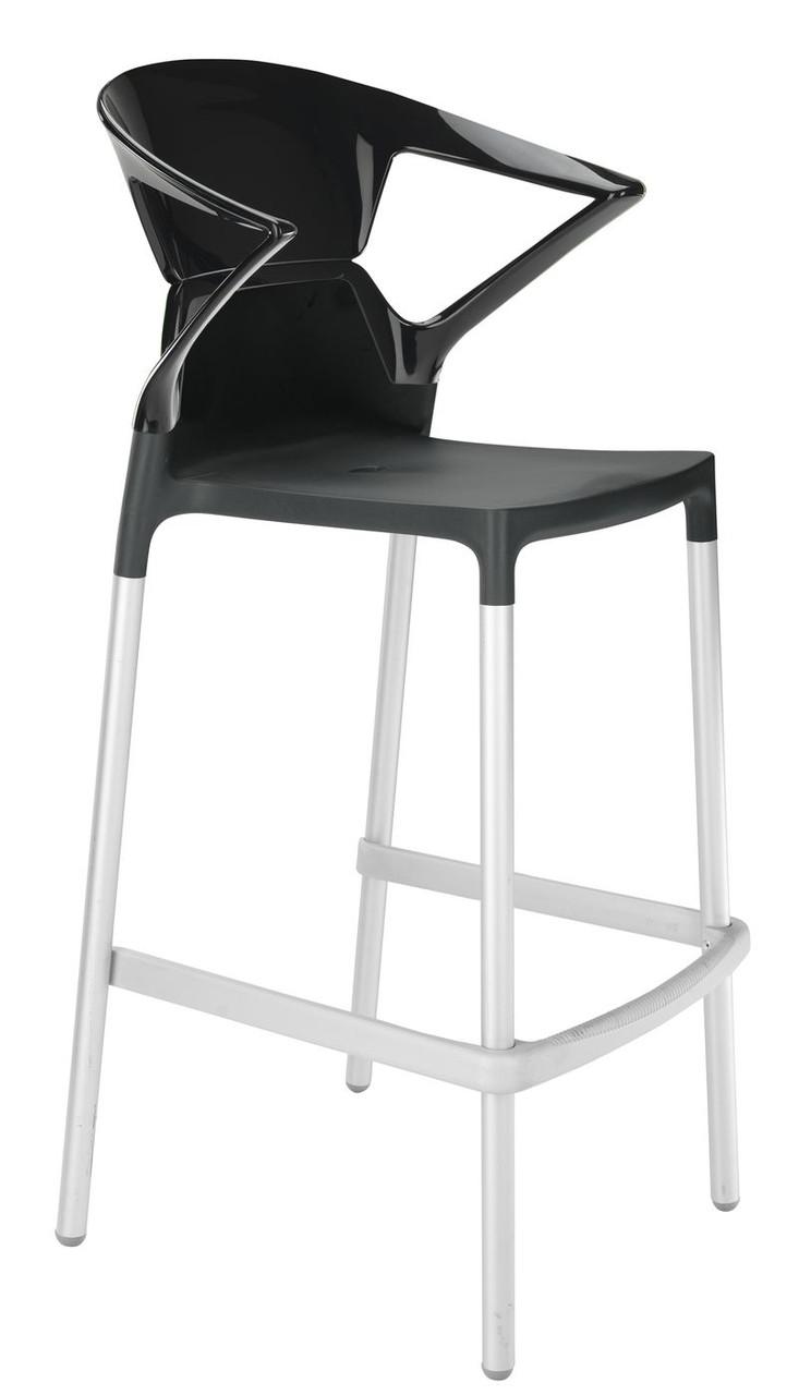 Барне крісло Papatya Ego-K чорне сидіння, верх чорний