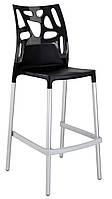 Барный стул Papatya Ego-Rock черное сиденье, верх черный, фото 1