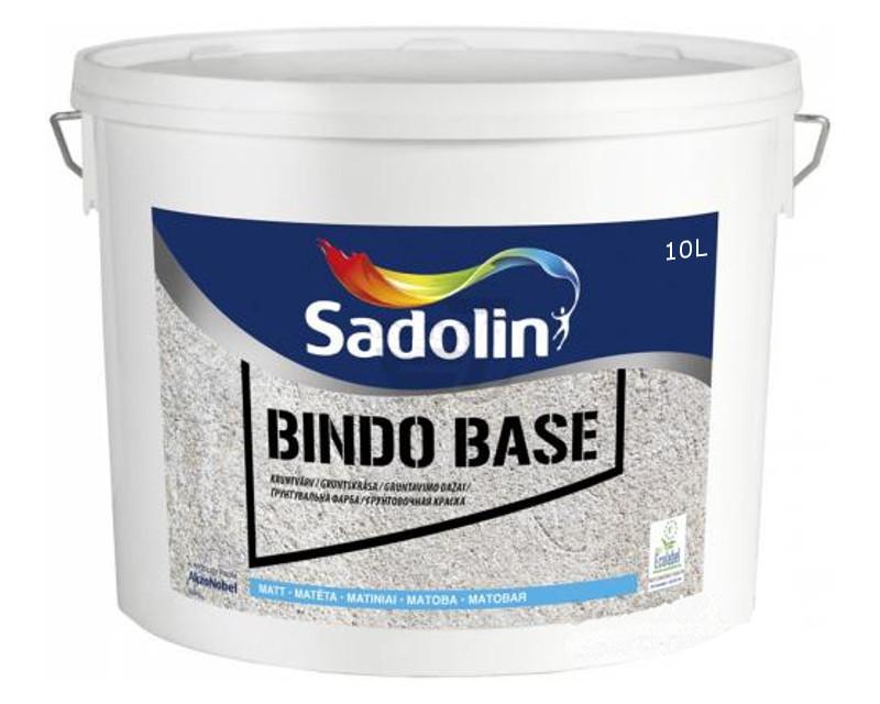 Грунт дисперсионный SADOLIN BINDO BASE для невпитывающих поверхностей белый (база ВW) 10л