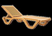 Шезлонг лежак Papatya Myra тик, фото 1