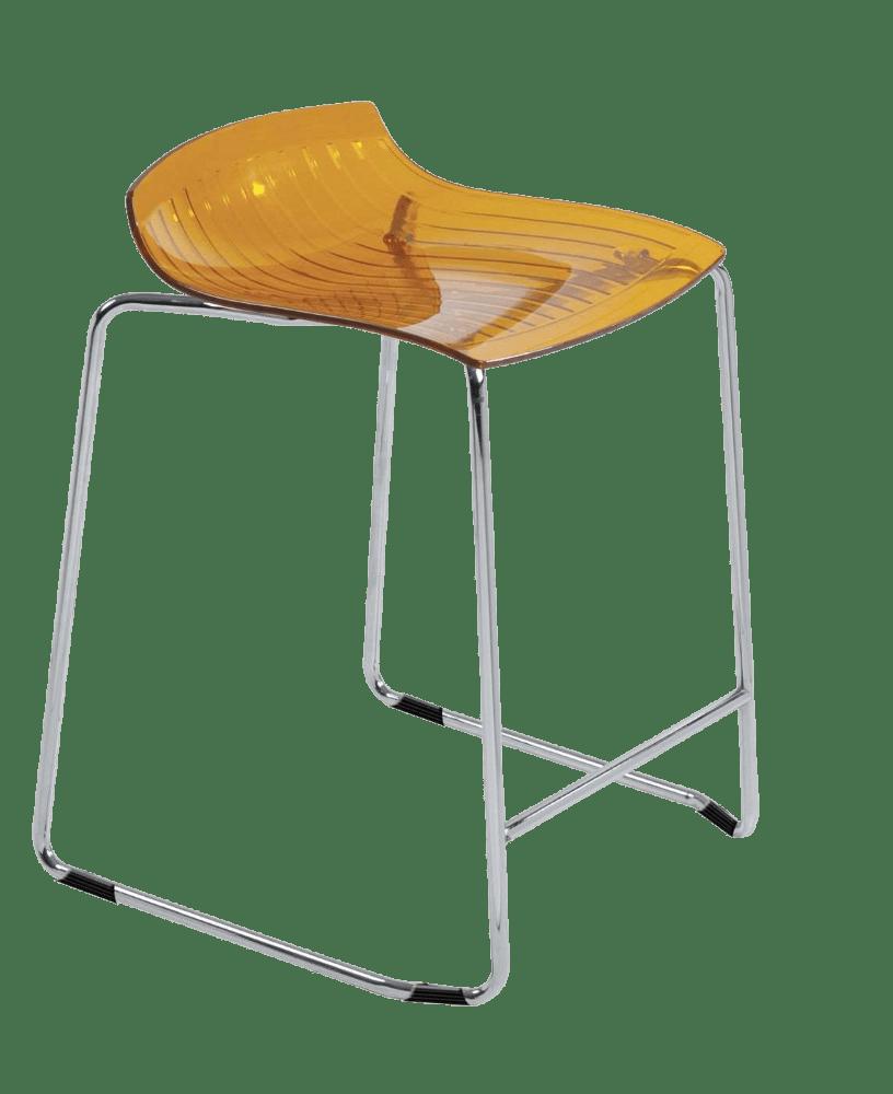 Барное кресло Papatya X-Treme Sled прозрачно-оранжевый
