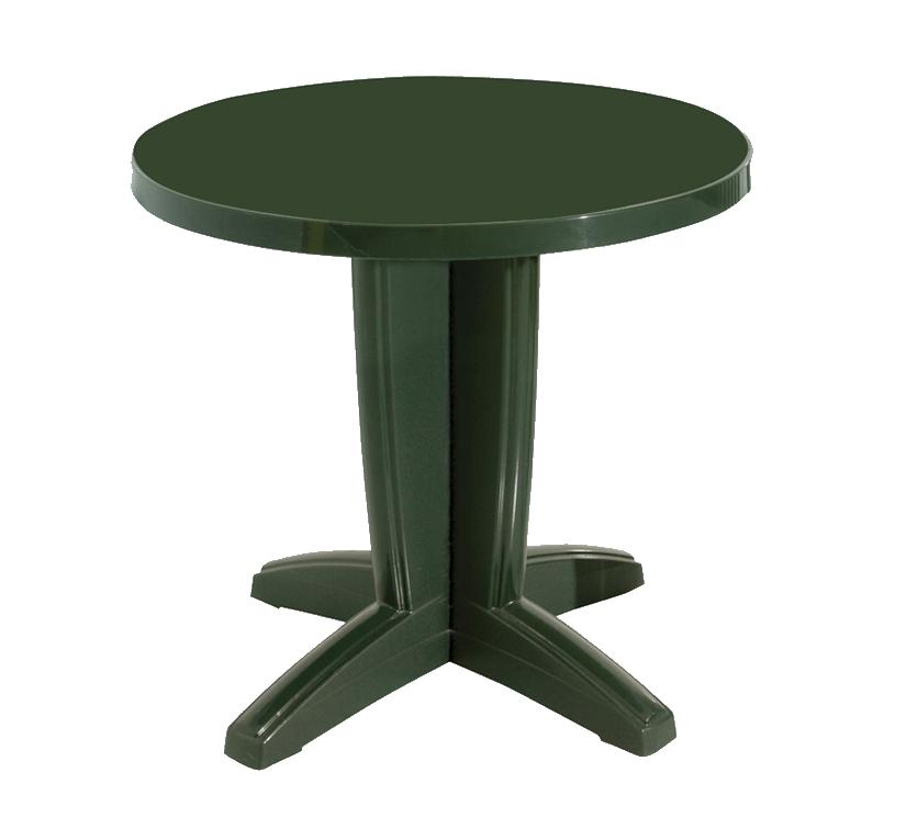 Стол круглый Papatya Браво 80 зеленый