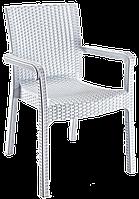 Кресло Irak Plastik Markiz под ротанг белый, фото 1