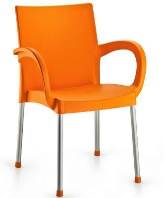 Крісло Irak Plastik Sumela алюмінієві ніжки помаранчевий