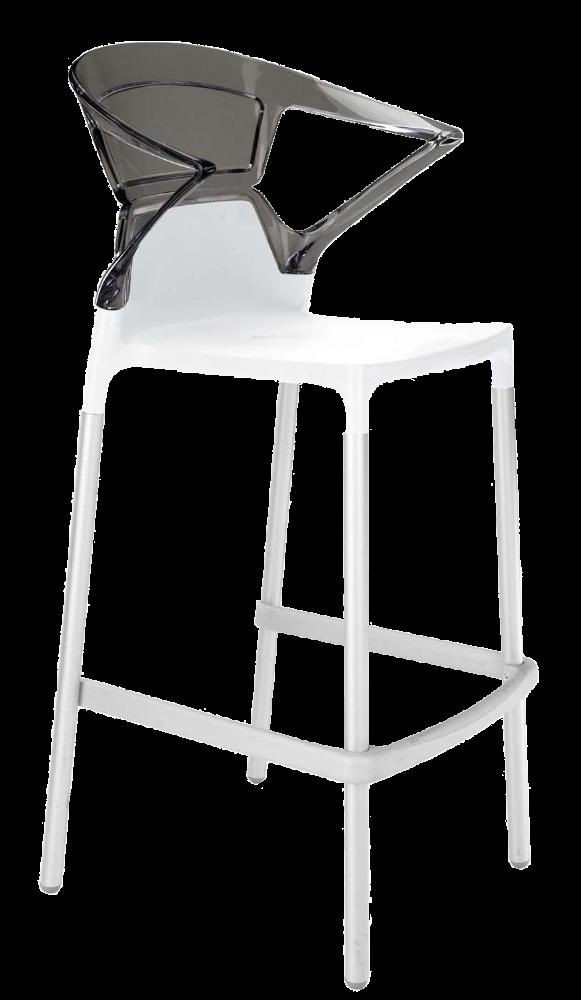 Барне крісло Papatya Ego-K біле сидіння, верх прозоро-димчастий