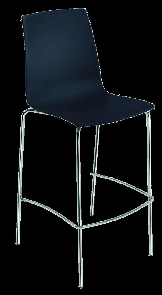 Барний стілець Papatya X-Treme BSL матовий чорний
