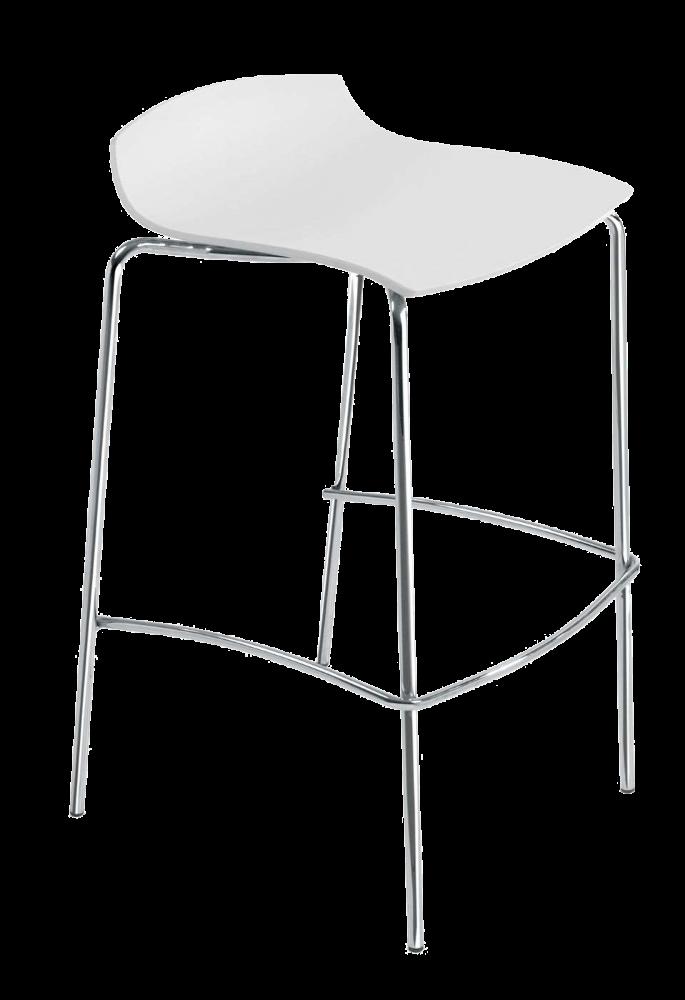 Барный стул Papatya X-Treme BSS матовый белый