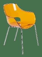 Кресло Papatya Opal прозрачно-оранжевое, фото 1
