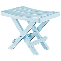 Табурет складной 35x25x28 см голубой Irak Plastik