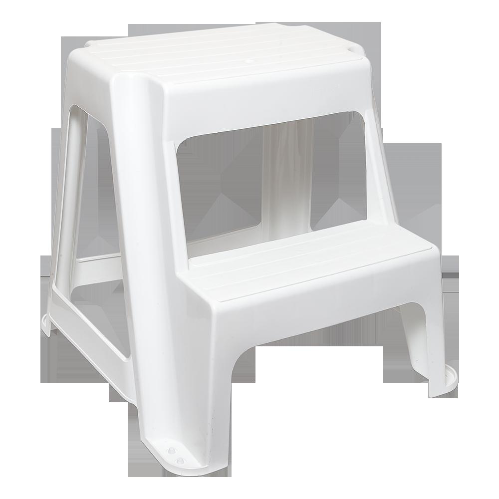 Табурет Step со ступенькой белый