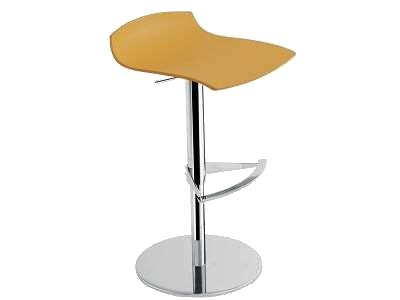 Барное кресло Papatya X-Treme B матовый темно-желтый