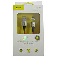 Кабель Lighting-USB  Baseus Zinc Magnetic cable , 2.4A , 1.0m , red