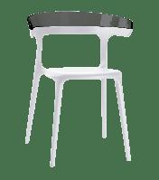 Кресло Papatya Luna белое сиденье, верх прозрачно-дымчатый, фото 1