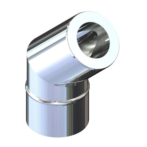 Отвод 45° для дымохода ø 160/220 н/оц 0,6 мм