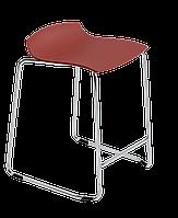 Барное кресло Papatya X-Treme Sled матовый красный кирпич