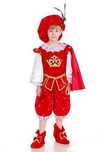 Принц в красном камзоле карнавальный костюм для мальчика \ Размер 110-116; 122-128; 134-140 \ BL - ДК29