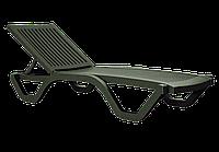 Шезлонг лежак Papatya Myra темно-зеленый, фото 1