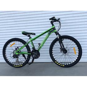 """Гірський Велосипед TopRider 24 дюймів""""680"""" салатовий"""
