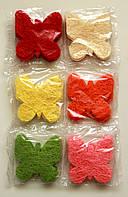 Бабочки из прессованного сизаля (упаковка)