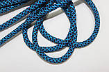 Шнур круглый 6мм с наполнителем 100м синий + бирюза, фото 2
