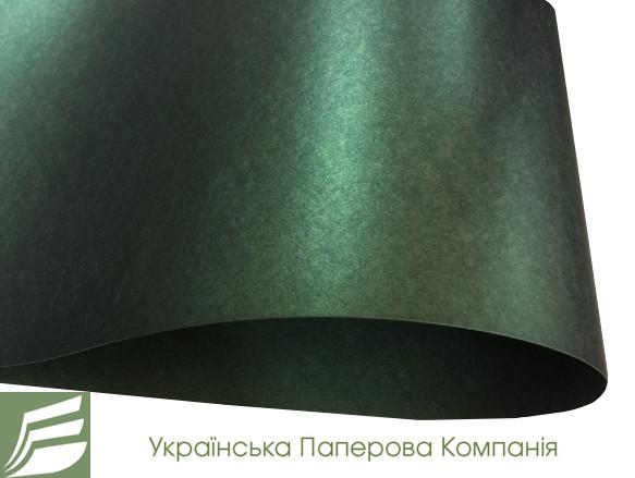 Дизайнерский картон Perl Dream Rainbow, зеленый перламутровый, 290 гр/м2