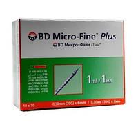 Инсулиновые шприцы BD Micro-Fine Plus U-100 1мл \ 8мм ( 100шт )