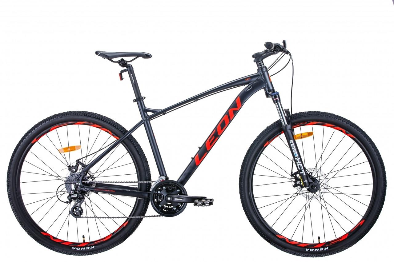 """Велосипед 29"""" Leon TN-90 2020 (графитовый с красным (м))"""