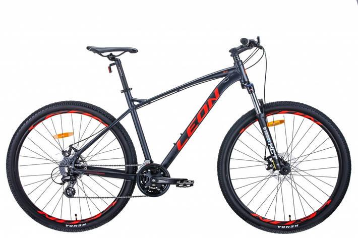 """Велосипед 29"""" Leon TN-90 2020 (графитовый с красным (м)), фото 2"""