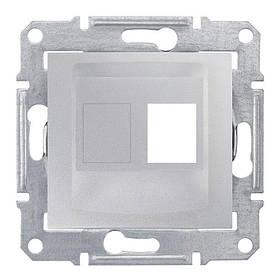 Накладка Schneider-Electric Sedna для коннекторов 1-модуль UTP кат. 6 кат.5е Алюминий
