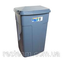 Бак мусорный 90л серый