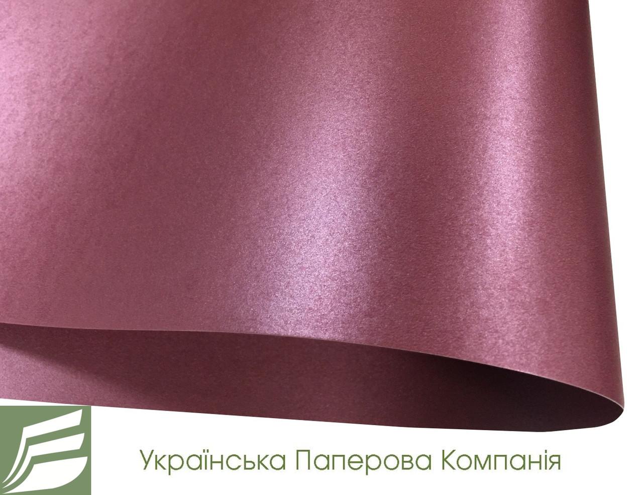 Дизайнерский картон Satin Lilac Paper, сиреневый перламутровый, 250 гр/м2