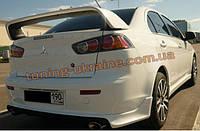 Юбка задняя на Mitsubishi Lancer X  2007+ (ZODIAK-STYLE) , фото 1