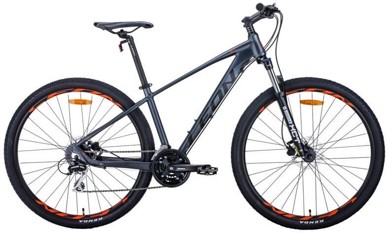 """Велосипед 29"""" Leon TN-80 2020 (графитовый с черным и оранжевым (м)), фото 2"""