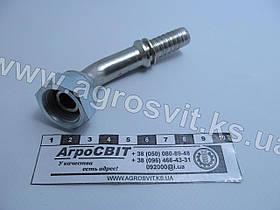 """Ниппель DKR 1/2""""-14 (под шланг dу=12 мм.) (угол 45 °)"""