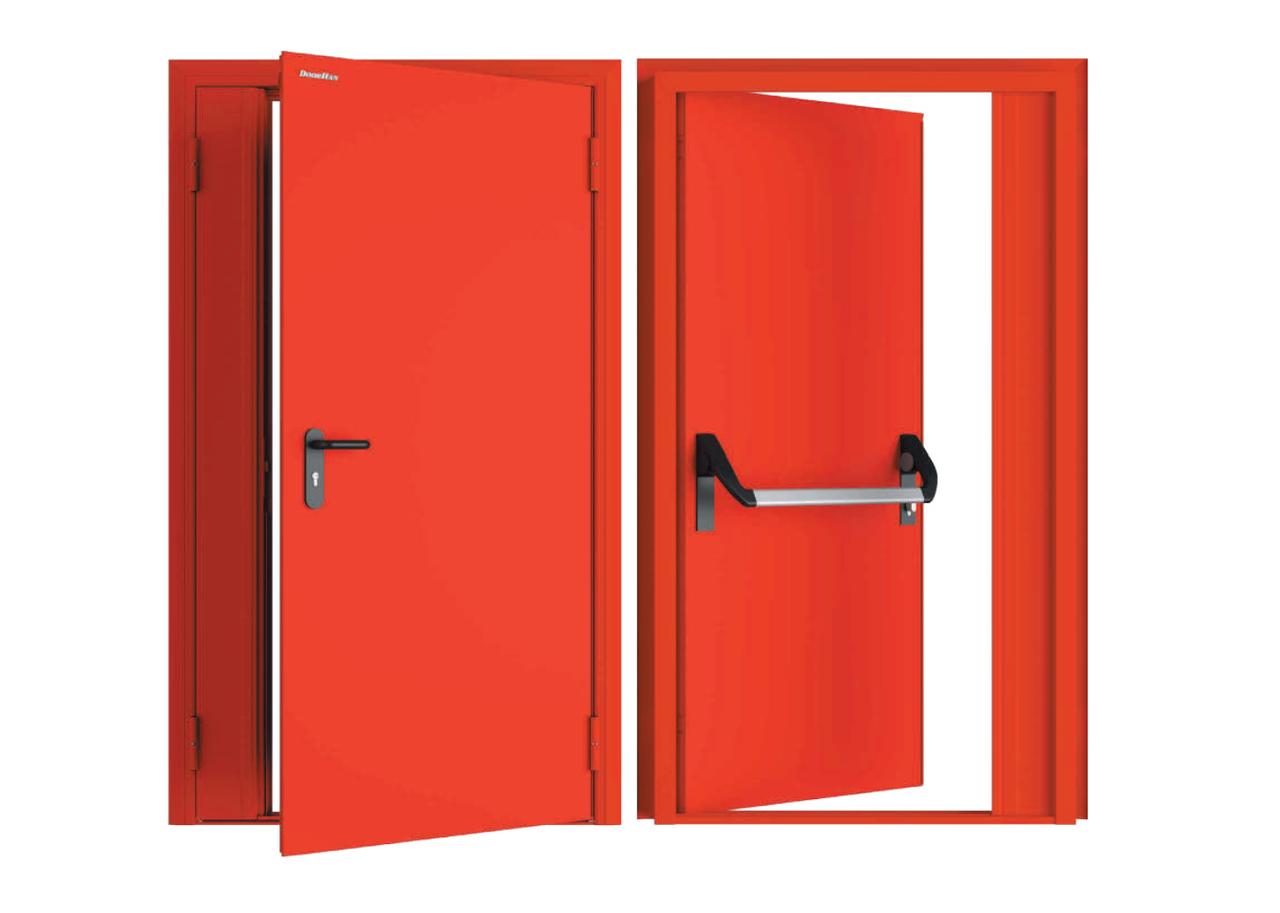 Двухстворчатые противопожарные двери DoorHan
