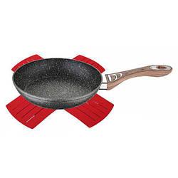 Аллюминиевая сковорода с мраморным антипригарным покрытием Ø24 Wellberg WB-3380