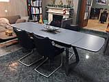 Раскладной обеденный стол LONDON керамика мокрый асфальт Nicolas (бесплатная адресная доставка), фото 6