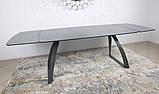 Раскладной обеденный стол LONDON керамика мокрый асфальт Nicolas (бесплатная адресная доставка), фото 8