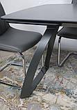 Раскладной обеденный стол LONDON керамика мокрый асфальт Nicolas (бесплатная адресная доставка), фото 9