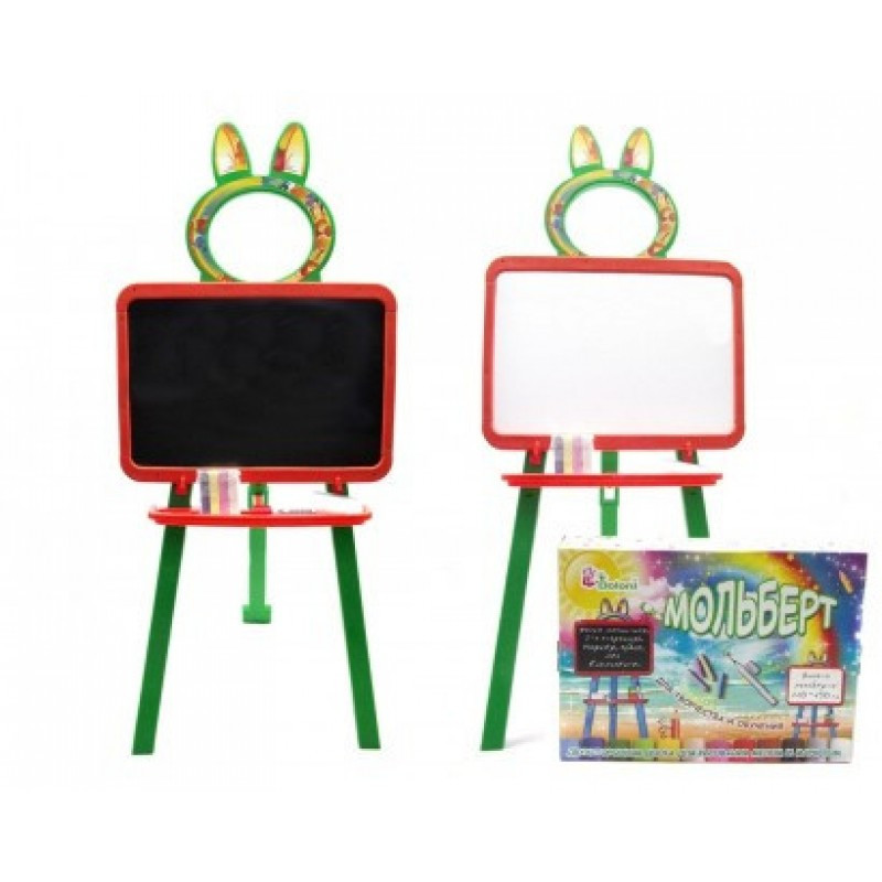 Доска для рисования магнитная Doloni 013777/3 оранжево-зелёная