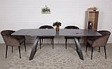 Раскладной обеденный стол LONDON керамика мокрый асфальт Nicolas (бесплатная адресная доставка), фото 10