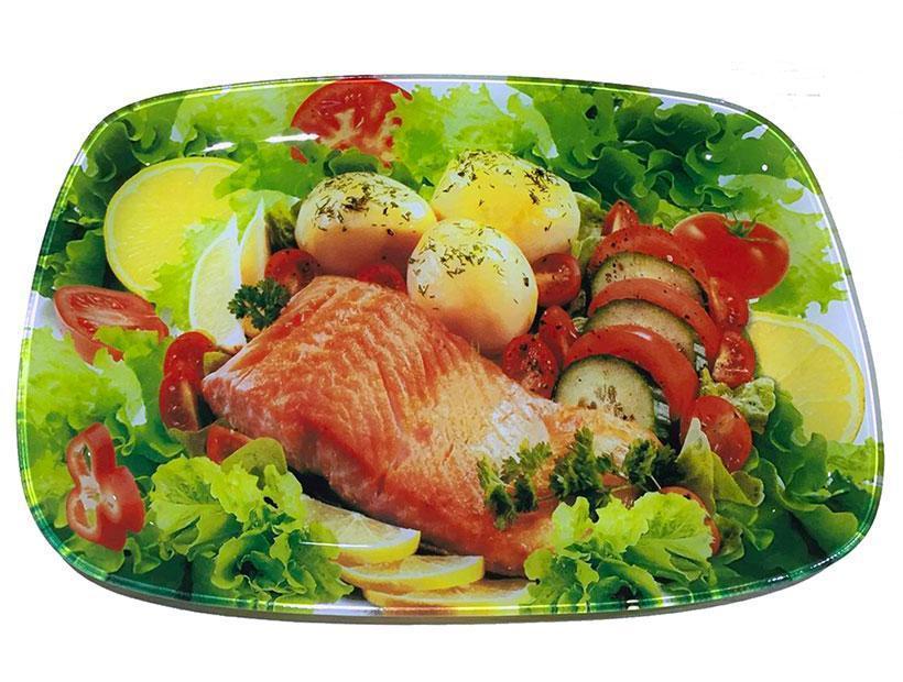 Блюдо 29,5х21 см Овощи Lumines S-445012-C-T-315-12